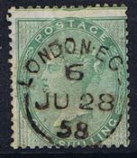 1855 ENGLANTI - AFA 15 leimattuna