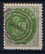 1871 TANSKA - AFA 20 leimattuna