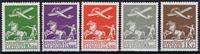 1925 TANSKA - AFA 144-146 + 181-182 postituoreina