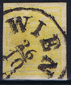 1854 ITÄVALTA - AFA 1M leimattuna