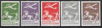 1925 TANSKA - AFA 144-46 + 181-82 käyttämättöminä