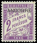 1931 RANSKAN ANDORRA - 2 Fr.