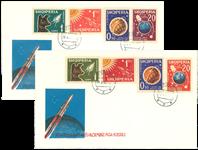 Albanien - 1962 Russiske satellitter på 2 FDC