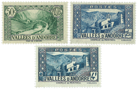 French Andorra - 3 mint values