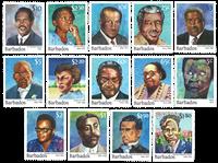 Barbados - Berømtheder - Postfrisk sæt 14v