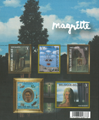 Belgien - Magritte - Postfrisk miniark