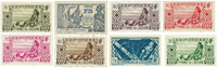 Oceania 8 different stamps