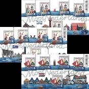 Holland - Smukke Holland - Postfrisk sæt á 3 ark