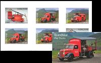 Færøerne - Brandbiler - Postfrisk selvkl. hæfte