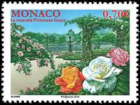 Monaco - Rosarium Princess Grace - Mint stamp