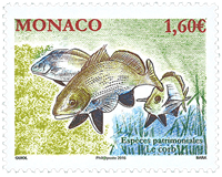 Monaco - Protected species - Fish - Mint stamp