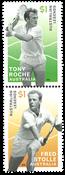 Australia - Legends of tennis Roche & Stolle - Mint set 2v