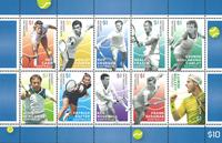 Australia - Legends of tennis - Mint sheetlet