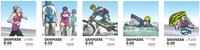 Danmark - Populære sportsgrene - Postfrisk sæt 5v