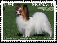 Monaco - Dog exhibition 2016 - Mint stamp