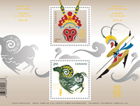 Canada - Year of the ram - Year of the Monkey - Mint souvenir sheet