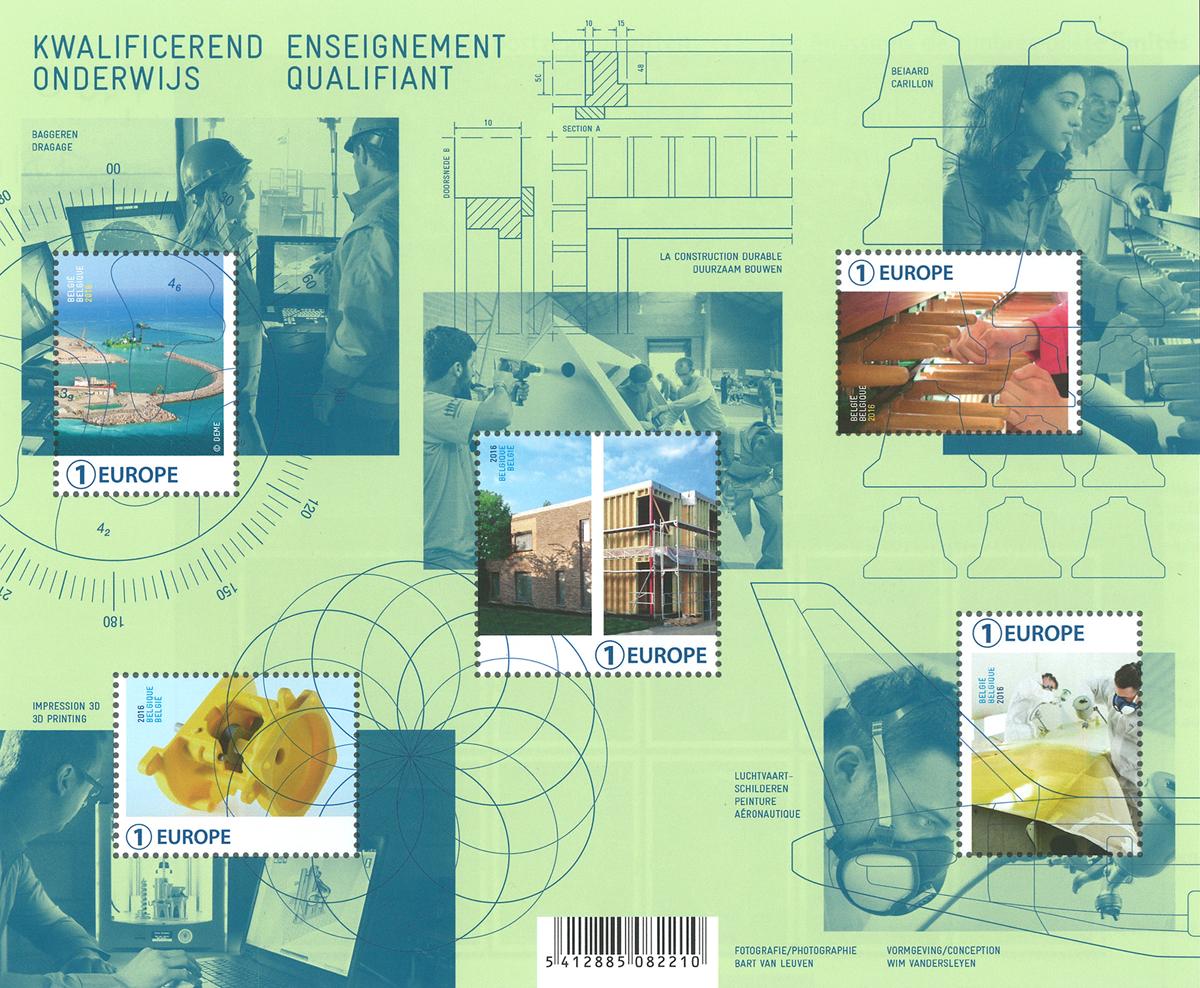 Belgien - Belgiske opfindelser - Postfrisk miniark