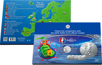 UEFA Euro 2016 - Nice collector album and medals -  English text