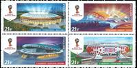 Rusland - Fodbold stadions VM 2018 - Postfrisk sæt 4v