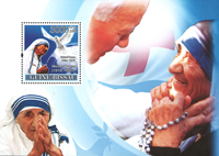 Guinee-Bissau - Mother Theresa - Postfrisk miniark