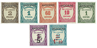 Andorra - YT frankings 9-15 - Mint