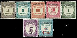 Andorra - YT porto 9-15 - Postfrisk