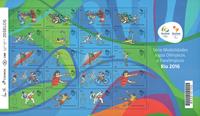 Brazil 2016 - Olympic mint sheetlet - 20 stamps blue/green