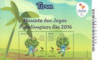 Brazil 2016 - Olympic mint souvenir sheet - blue mascot Tom