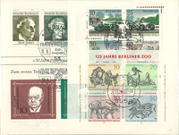 West Germany - 19 cancelled souvenir sheets