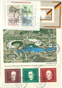 West Germany - 52 cancelled souvenir sheets