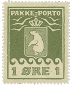 Greenland - Parcel stamps - AFA no. 1