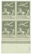 4-block, 50 øre old airmail