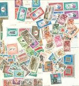 Frankrig kolonier - Laos - 96 frim. + 7 miniark - Postfrisk