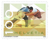 Switzerland - Wrestling - Mint stamp