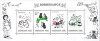 Danmark - Børnesange - Postfrisk miniark