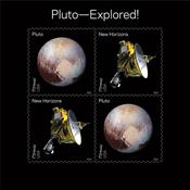 USA - Pluto udforsket - Postfrisk miniark