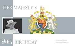 Alderney - QEII 90 år - Postfrisk prestigehæfte