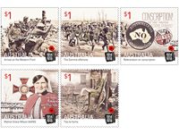 Australia - First World War - Mint set 5v