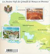 Monaco - Len-områder i Provence - Postfrimsk miniark