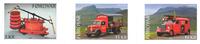 Færøerne - Brandbiler - Postfrisk selvkl. sæt 3v