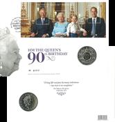 Englanti - Kuningatar Elisabeth 90 vuotta - Kolikkokirje