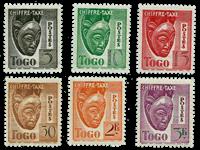 Togo - YT 32-37 portomærker