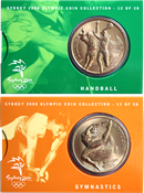 Olympic Games 2000 - Bronze coin with handball / Gymnastics