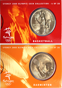 OL 2000 Bronzemønt-kollektion Basketball/badminton