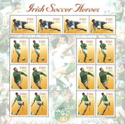 Irland *Irish soccer heroes* - Postfrisk ark