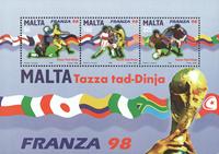 Malta 1998 - Fodbold - Postfrisk miniark