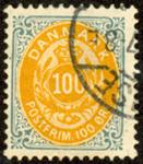 Danmark - Tofarvet øremærke - AFA nr. 31By - Stemplet