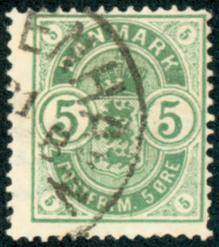 Danmark - AFA nr. 32 - Våbentype - Små hjørnetal