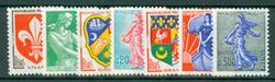 Frankrig - YT1230-1234A - Typografi