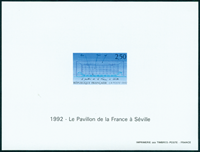 France imperforated bloc 2736a Exhibition in Seville